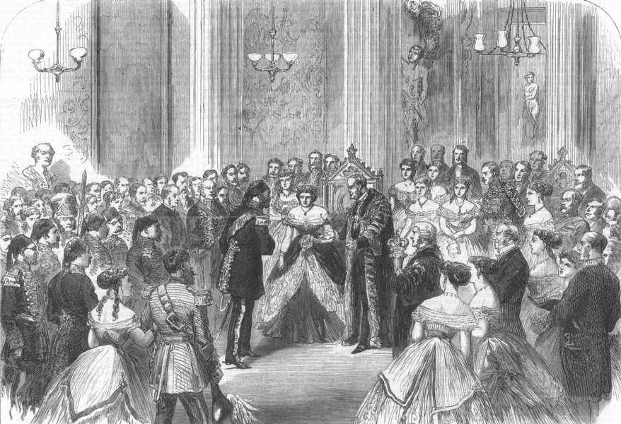 THE MANSION HOUSE. Reception of the Viceroy of Egypt by the Lord Mayor, 1867