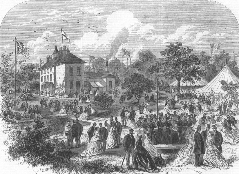 Associate Product NOTTINGHAM. Visit of the British Association of Science to Basford Park, 1866