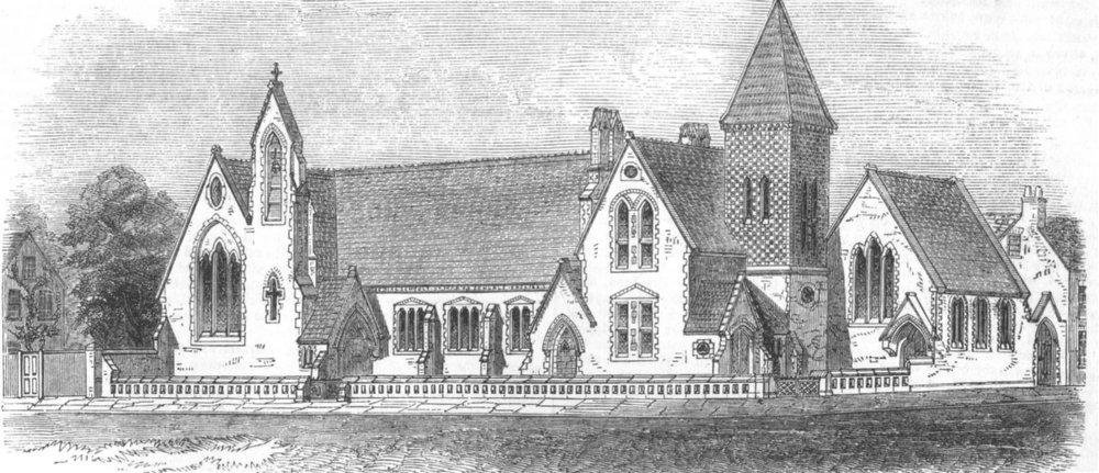 Associate Product READING. St. Mary's Parochial Schools. Berkshire, antique print, 1852
