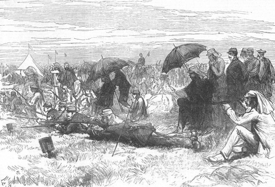 WIMBLEDON. The Canadian Rifles. London, antique print, 1872