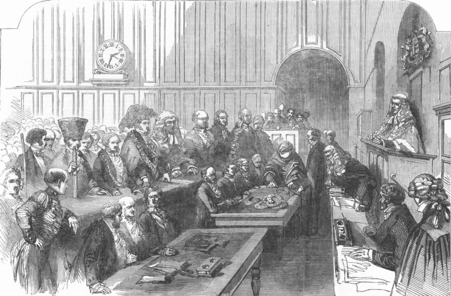 Associate Product WESTMINSTER.Ancient Civic Tenure Custom. St Michael's day. Court Exchequer, 1853