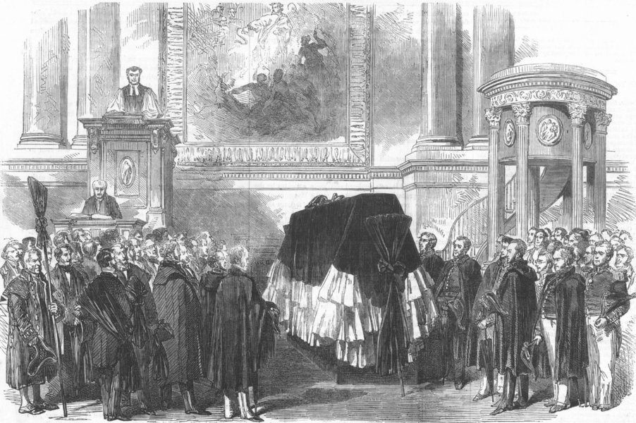 Associate Product GREENWICH HOSPITAL. Funeral of the late Sir Edward Parry, in the Chapel, 1855