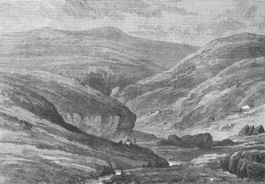 Associate Product DEESIDE. The burn O'Vat, near Ballater. Scotland, antique print, 1871