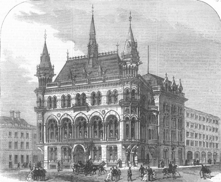 Associate Product MANCHESTER. The new Reform Club, antique print, 1871