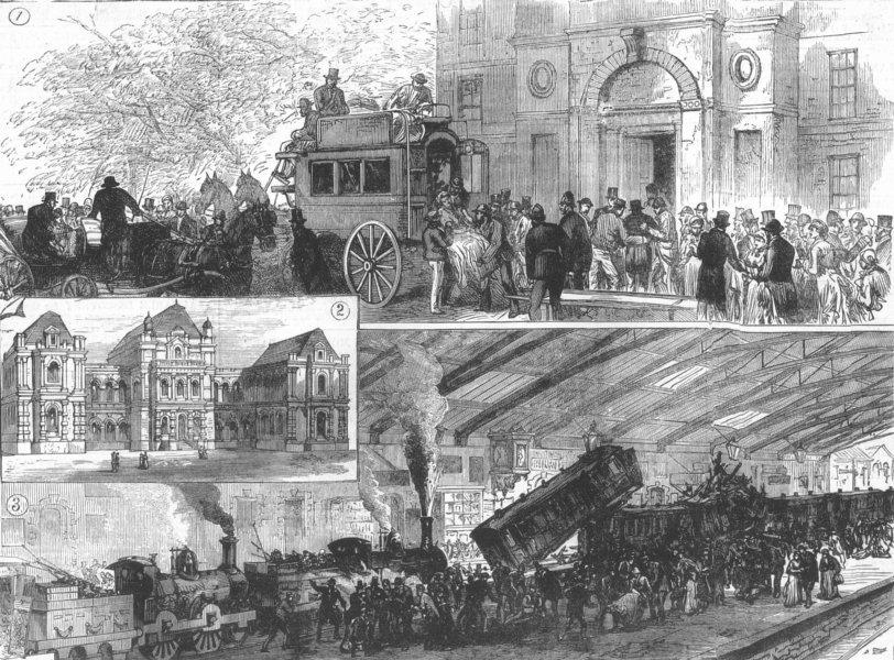 Associate Product BLACKBURN. The fatal railway collision. Lancashire, antique print, 1880