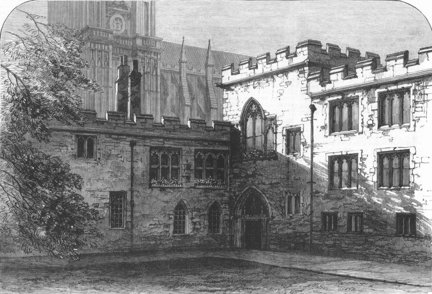 Associate Product WESTMINSTER. The Deanery, Dean's-Yard, antique print, 1881