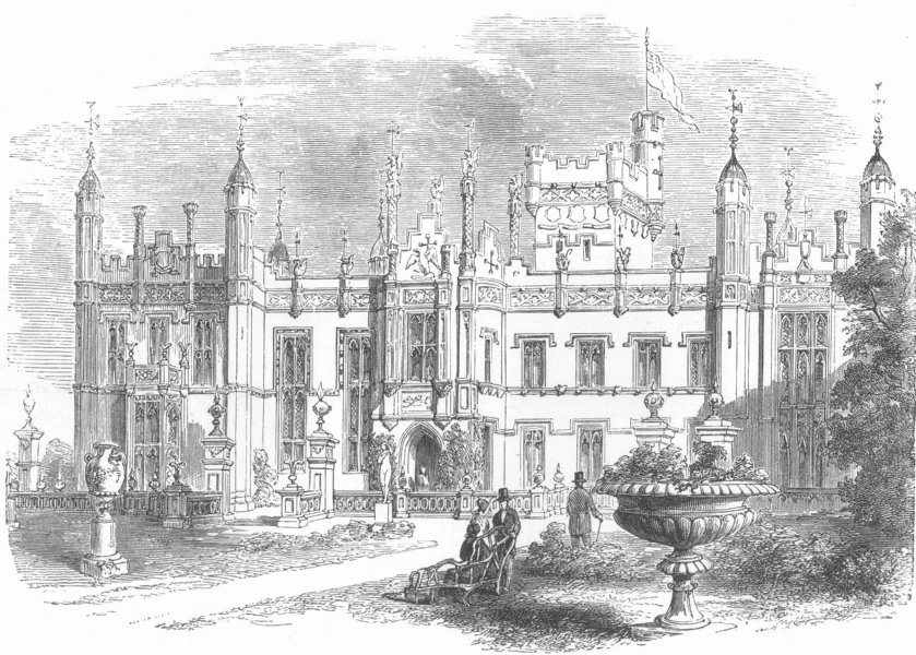 Associate Product KNEBWORTH. The seat of the late Lord Lytton. Hertfordshire, antique print, 1873