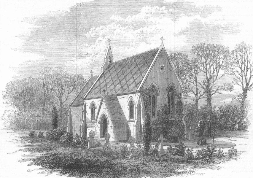 Associate Product CHISELHURST. St Marys Catholic Chapel. Emperor Napoleon. , antique print, 1873