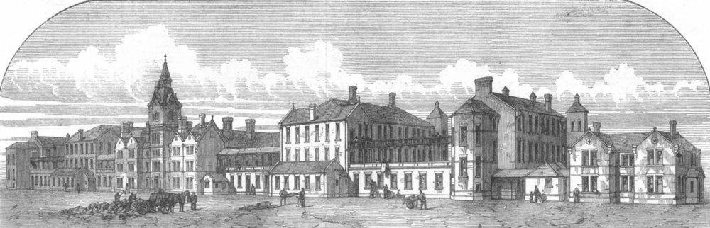 Associate Product LONDON. The Poplar and Stepney Sick Asylum, antique print, 1871
