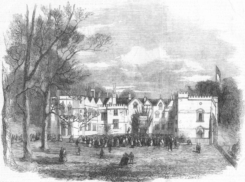 Associate Product BRISTOL. Ashton Court. Greville Upton Smyth drinking his tenantry's health, 1857