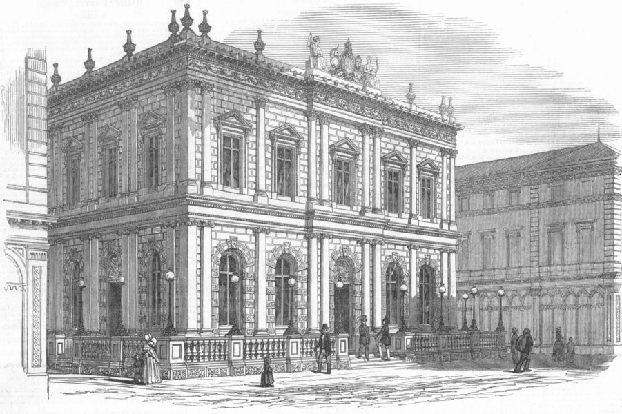 Associate Product GLASGOW. Exterior of the National Bank. John Gibson, architect. Scotland, 1849