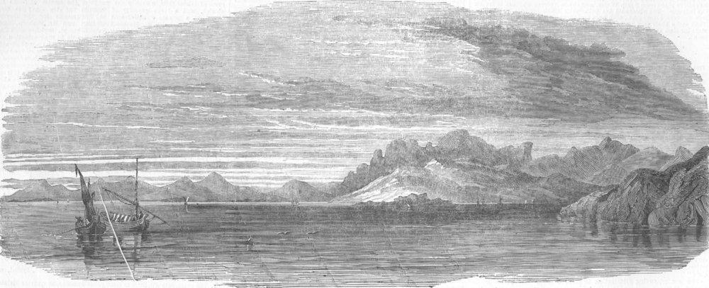 Associate Product UKRAINE. Kaffa Bay, antique print, 1854