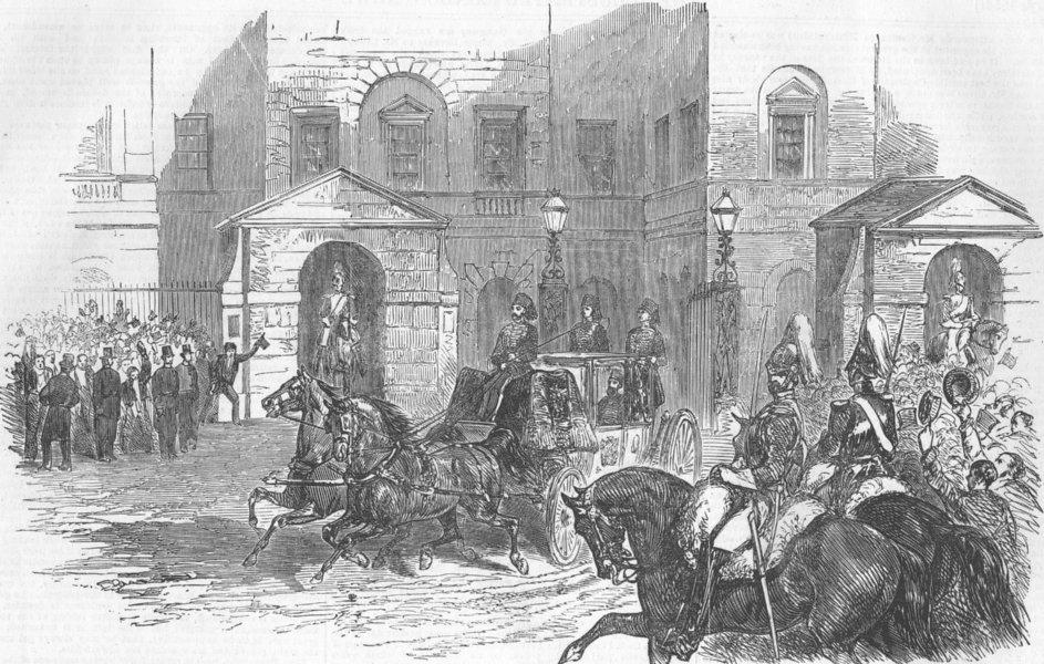 Associate Product MILITARIA. Reception of the Turkish Ambassador, , antique print, 1854