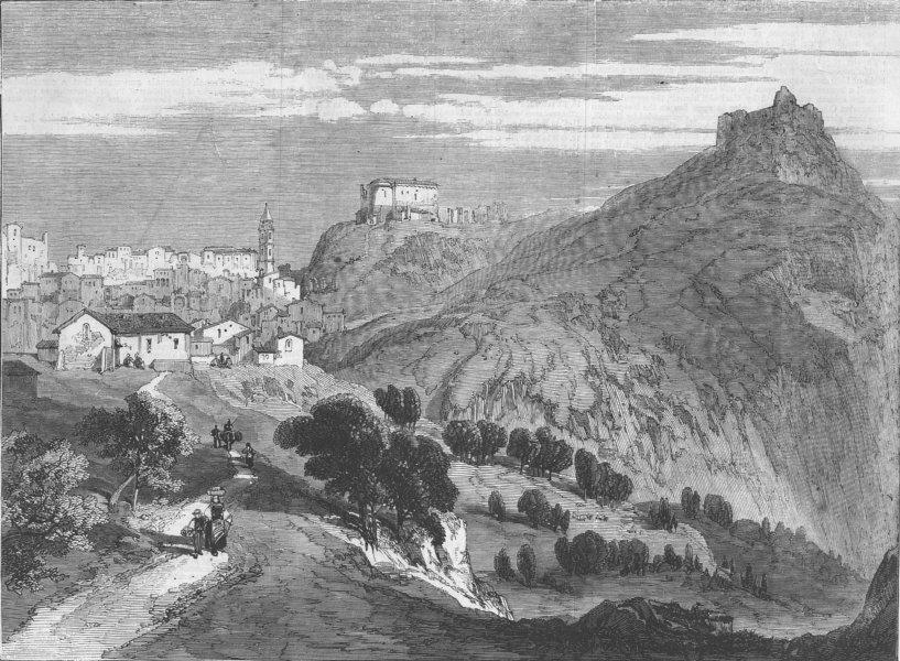 Associate Product ITALY. The Revolution in Sicily, -Calatafimi, antique print, 1860