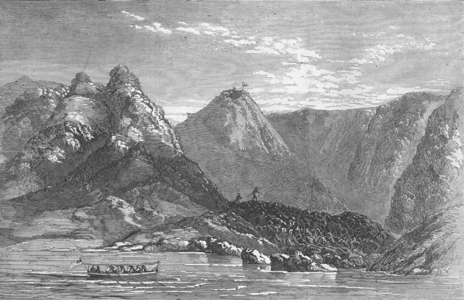 Associate Product INDIA. Barren Island, in the Bay of Bengal, antique print, 1858