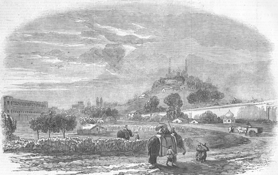 Associate Product INDIA. Lucknow, the Capital of Awadh, antique print, 1856