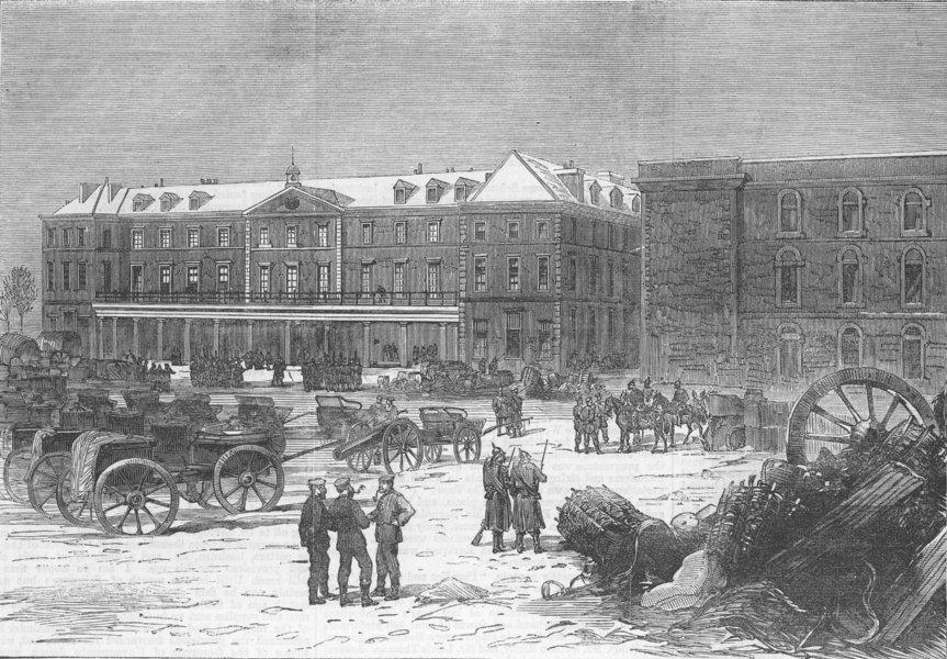 Associate Product FRANCE. Fort Mont-Valérien. The Barrack Square, antique print, 1871