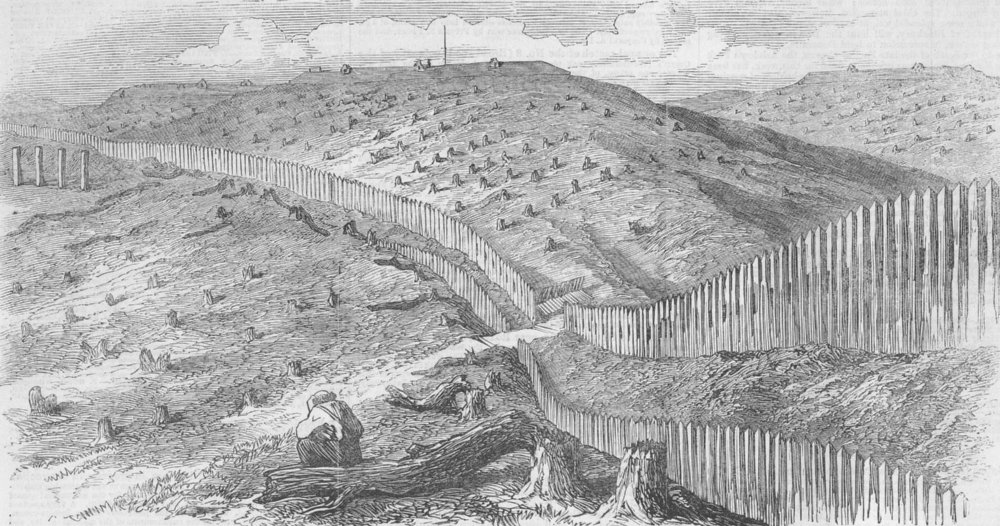 Associate Product AUSTRIA. Quadrilateral. Forts on the road from Desenzano to Peschiera, 1866