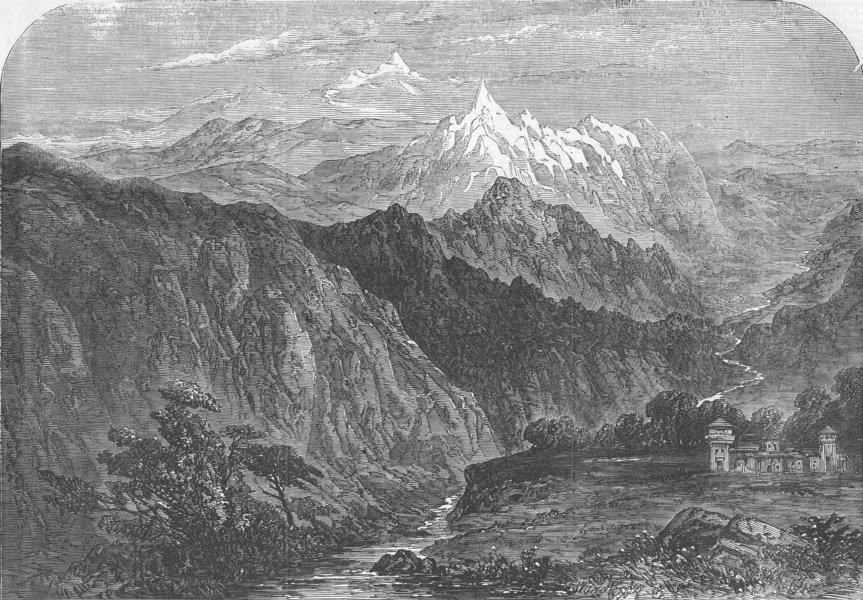 Associate Product INDIA. Shipki La Pass. Shipki La in The Himalayas, antique print, 1856