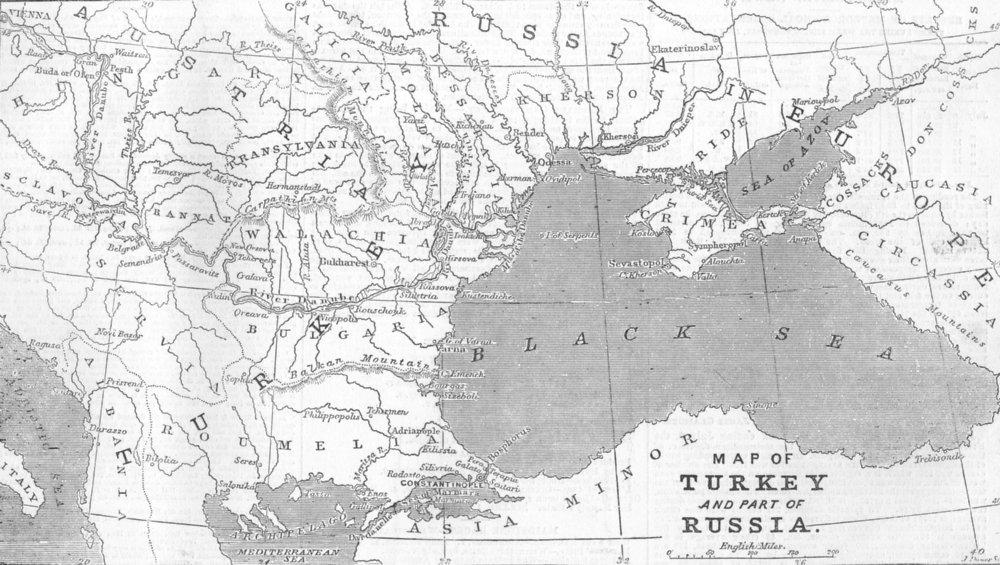 Associate Product TURKEY. European Turkey, 1853 map