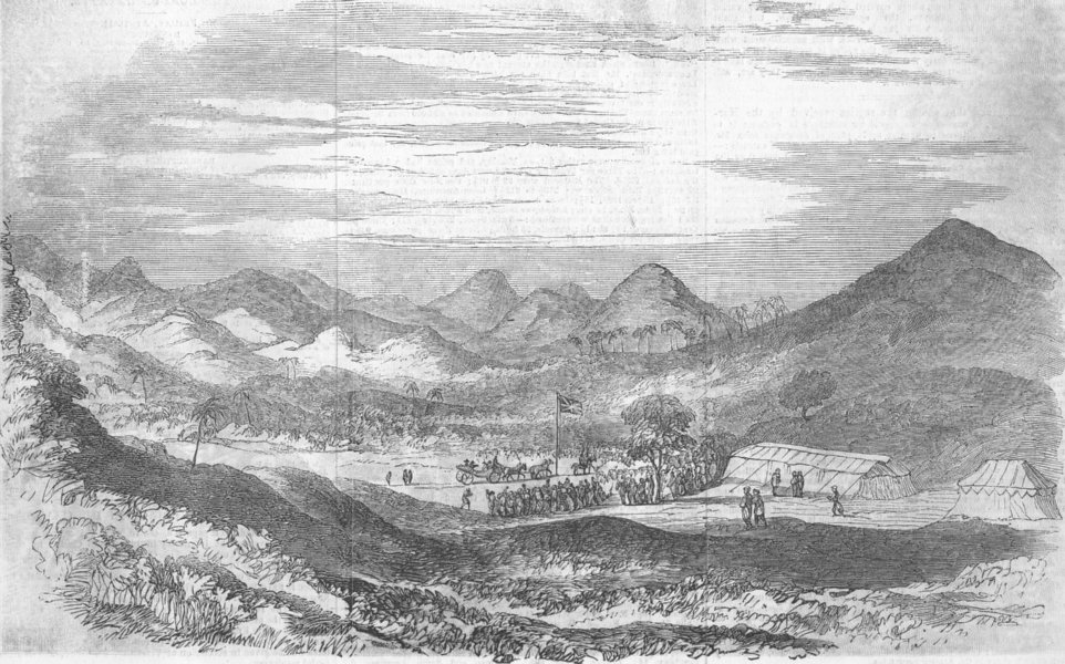 Associate Product INDIA. start of Reservation, Valley, Salsette Island, antique print, 1856