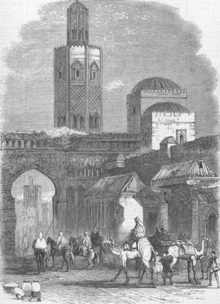 Associate Product MOROCCO. A Street in Tetuan, antique print, 1859