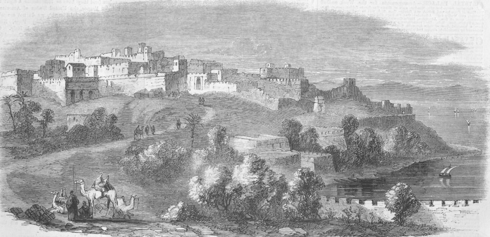 Associate Product MOROCCO. The Citadel of Tangier, antique print, 1859