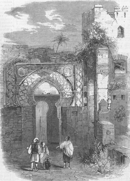 Associate Product MOROCCO. Gateway of the Citadel of Tangier, antique print, 1859