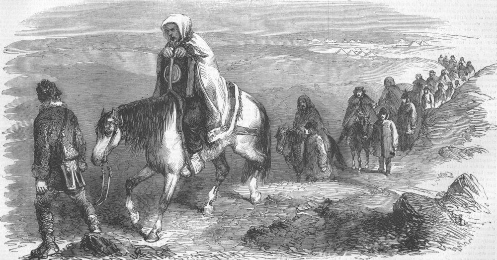 Associate Product UKRAINE. Carrying the Frost Bitten to Balaklava, antique print, 1855
