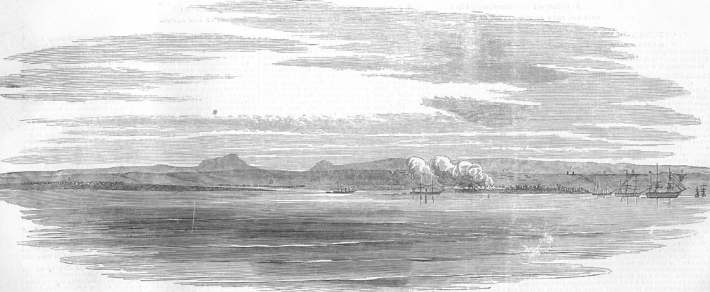 Associate Product UKRAINE. Sketch on the Coast, off Loukhoul, antique print, 1854