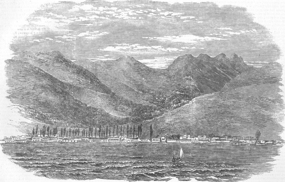 Associate Product RUSSIA. Gelendzhik Bay, Coast of Circassia, antique print, 1854