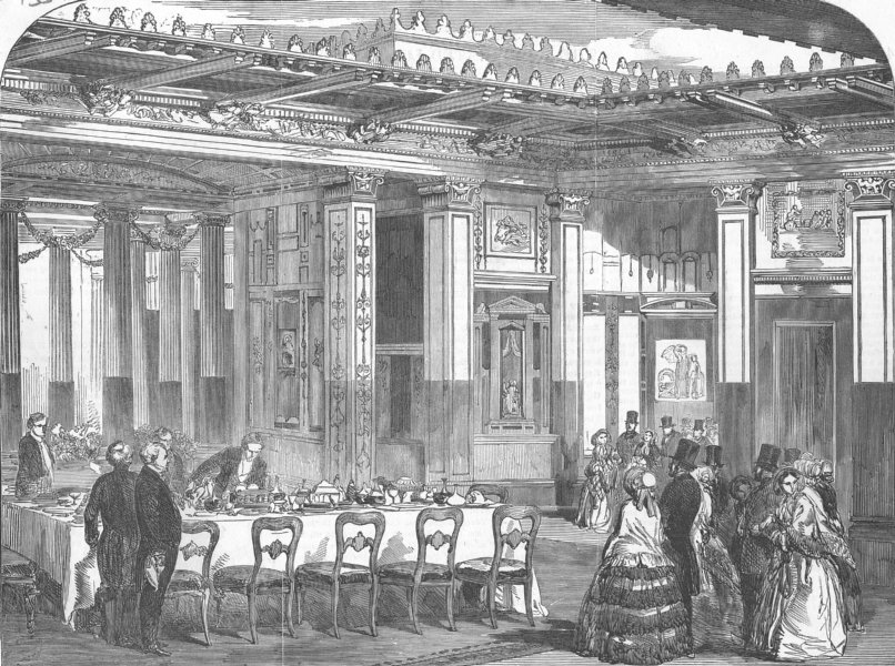 Associate Product LONDON. Queen at Crystal Palace, Sydenham, antique print, 1853