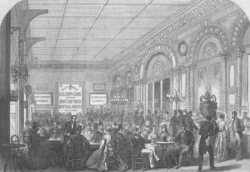 Associate Product SECULAR BUILDINGS. Messrs Bertram Cafeteria, antique print, 1867