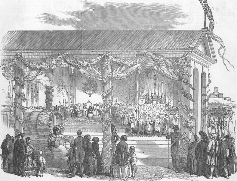 Associate Product SPAIN. Opening of the Madrid and Aranjuez Railway, antique print, 1851