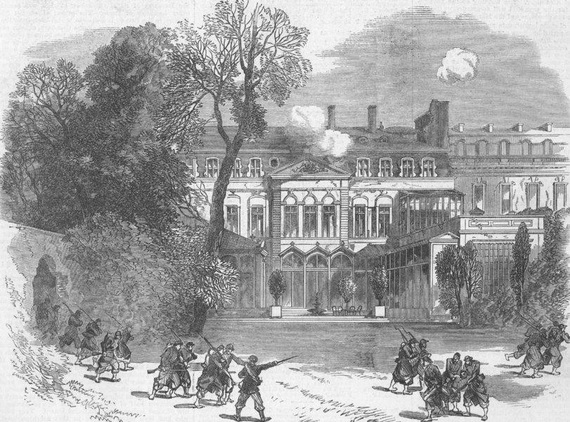 Associate Product FRANCE. The British Embassy at Paris, antique print, 1871