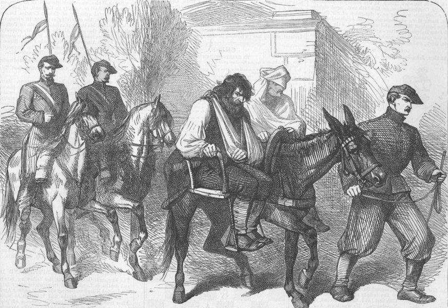Associate Product FRANCE. Paris Commune. Wounded rebel POWs, Versailles, antique print, 1871