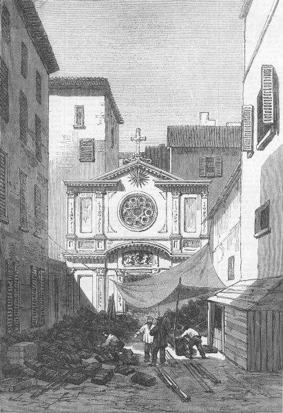 Associate Product FRANCE. College of the Jesuits, Marseilles, antique print, 1871