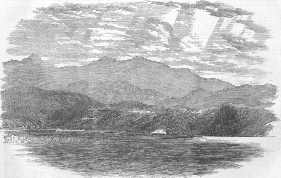 Associate Product UKRAINE. Battle of the Alma, antique print, 1854