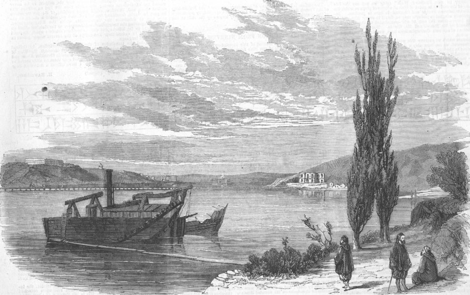 Associate Product UKRAINE. Careening Bay-Sevastopol, antique print, 1856