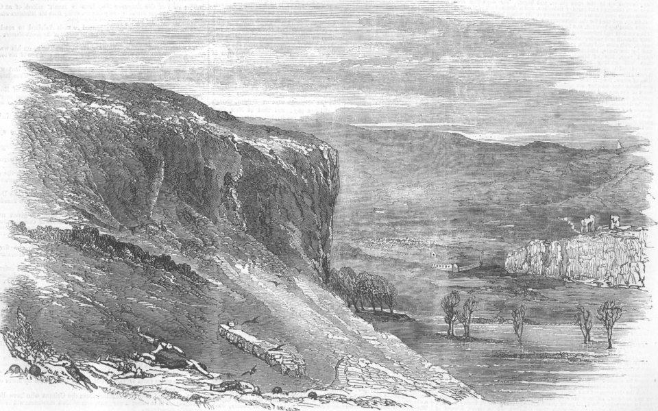Associate Product UKRAINE. Lake and Ruins at Inkerman, antique print, 1855