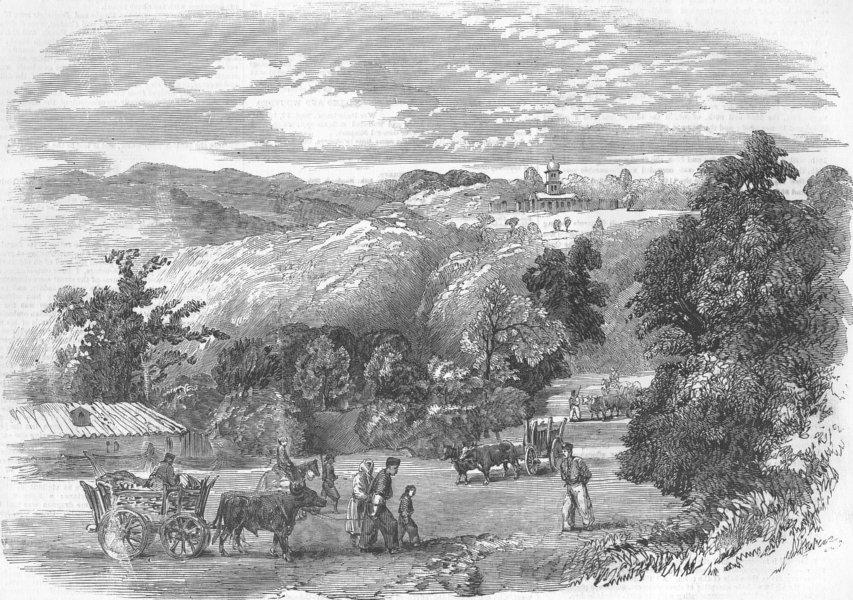 Associate Product UKRAINE. The road to Baidar, antique print, 1855
