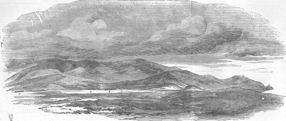 Associate Product UKRAINE. Sevastopol-Ft, Evacuated by Russians, antique print, 1854