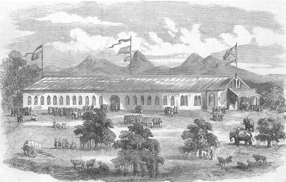 Associate Product INDIA. Exhibition at Coimbatore, antique print, 1857