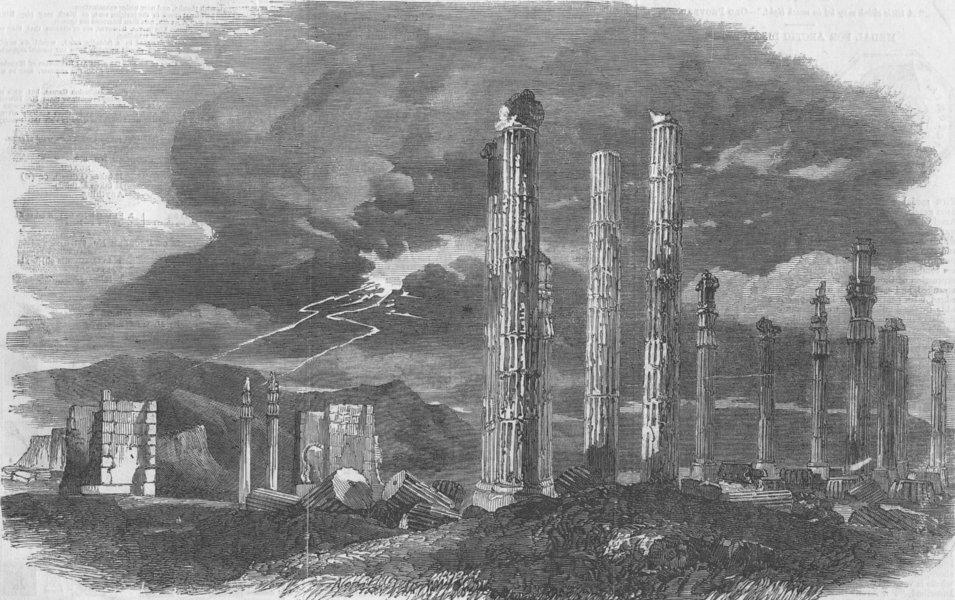 Associate Product IRAN. Persepolis, antique print, 1857