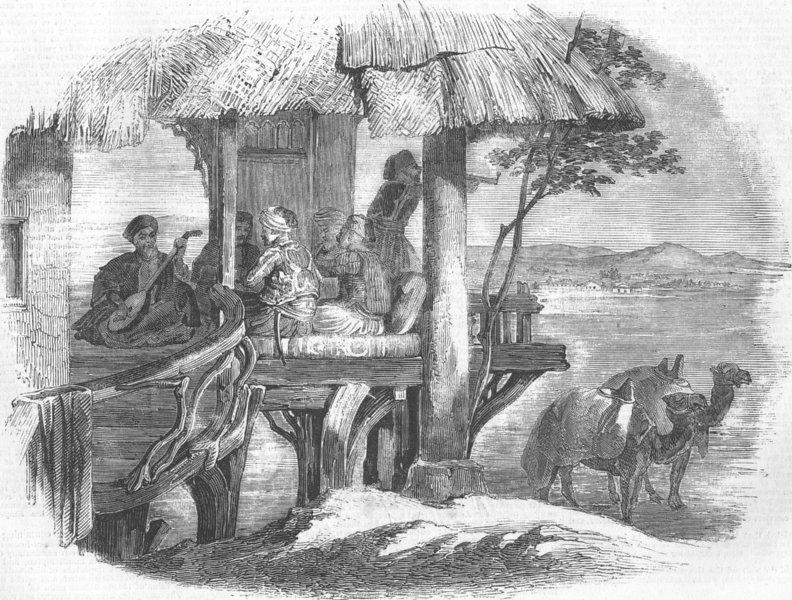 Associate Product EGYPT. Wayside Café, antique print, 1857