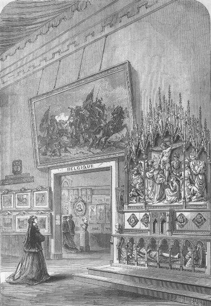 Associate Product FRANCE. Paris Expo. Fine Arts, Belgian Section, antique print, 1867
