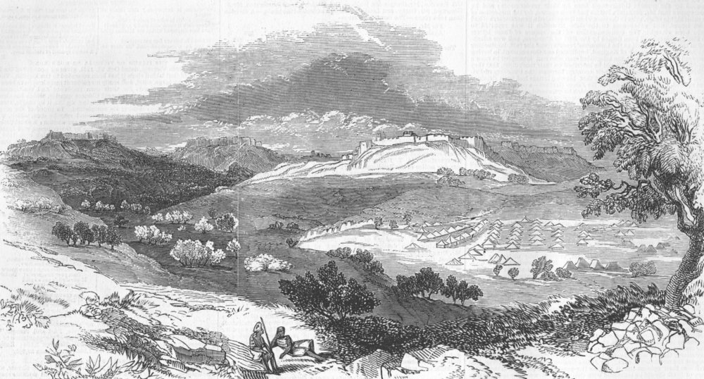 Associate Product INDIA. Hill Forts of Powanghur and Punalla, antique print, 1845