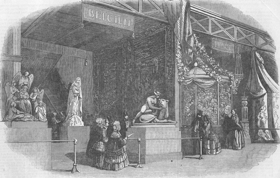 Associate Product BELGIUM. Great Exhibition. The Belgian Court, antique print, 1851
