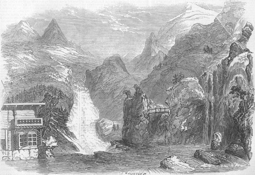 Associate Product FRANCE. Colosseum. Chalet, Mer de Glace, Mont Blanc, &c, antique print, 1845