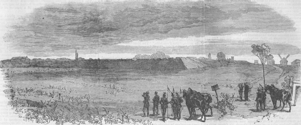 Associate Product FRANCE. Fort at Chatillon captured by Bavarians. Franco-Prussian War, 1870